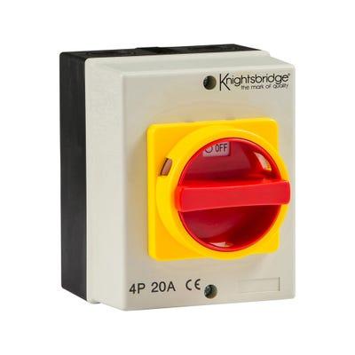 Knightsbridge IP65 Rotary Isolator 32A 4 Pole 230V-415V IN0026