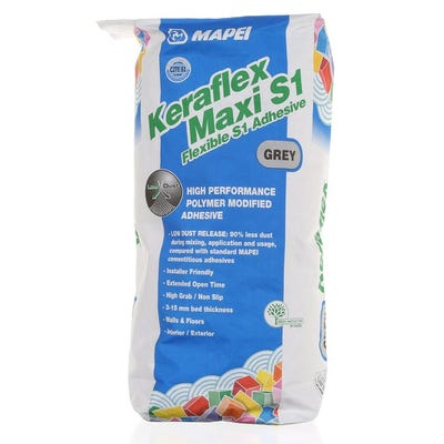 Mapei Keraflex Maxi S1 Grey Flexible Adhesive 20Kg Pallet of 48