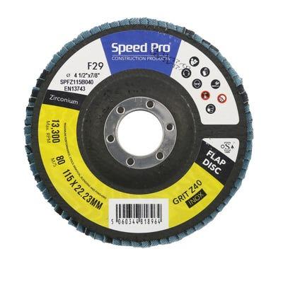 Speed Pro Zirconium Flap Disc 115mm x 22mm x 40G