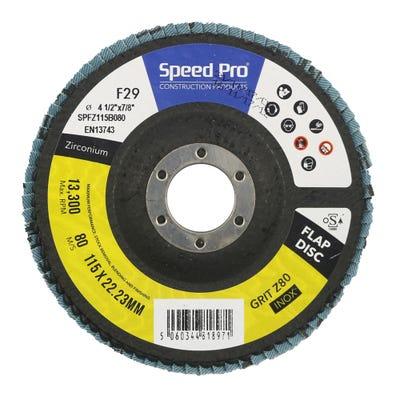 Speed Pro Zirconium Flap Disc 115mm x 22mm x 80G