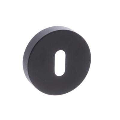Forme Key Escutcheon on Round Rose Black (Each)