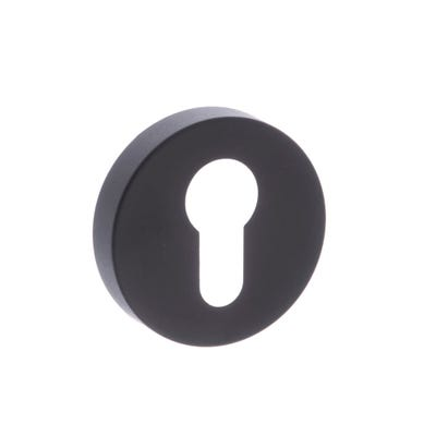 Forme Euro Escutcheon on Round Rose Black (Each)
