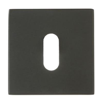 Forme Key Escutcheon on Square Rose Black (Each)