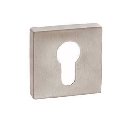 Forme Euro Escutcheon on Square Rose Satin Nickel (Each)