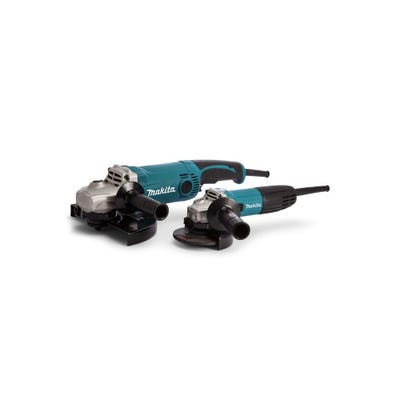 Makita 110V Angle Grinder Twin Pack - GA9050 230mm & GA4530R 115mm