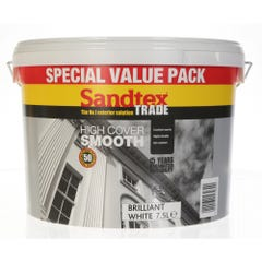 Sandtex Trade High Cover Smooth Brilliant White 7.5L
