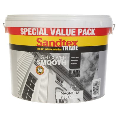 Sandtex Trade High Cover Smooth Magnolia 7.5L