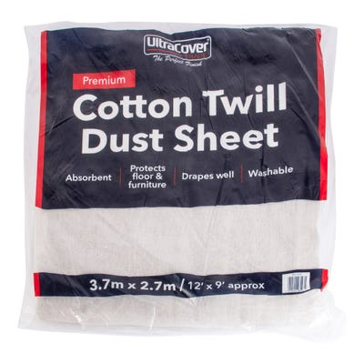 UltraCover Trade Cotton Twill Dust Sheet 12' x 9'