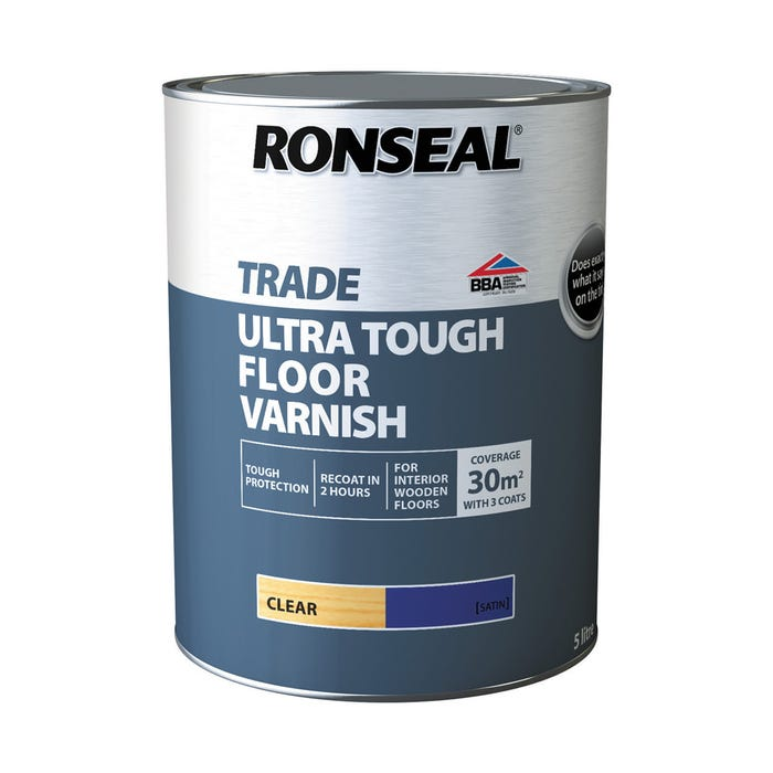 Ronseal Trade Ultra Tough Floor Varnish Clear Satin