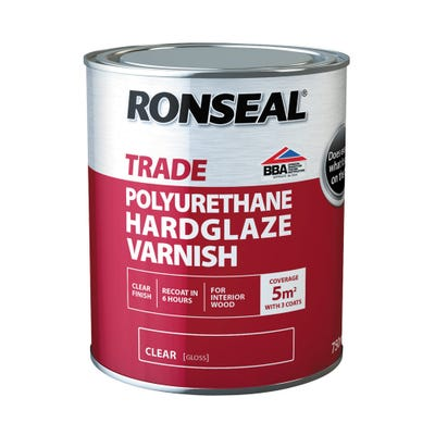 Ronseal Trade Polyurethane Hardglaze Varnish Clear Gloss