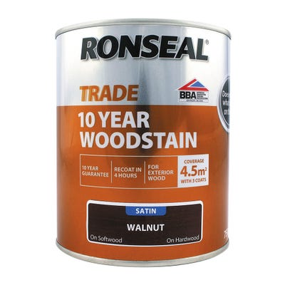 Ronseal Trade 10 Year Woodstain Walnut Satin