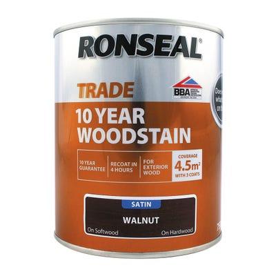Ronseal Trade 10 Year Woodstain Walnut Satin