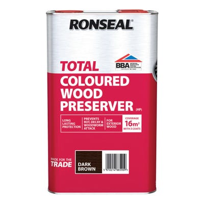 Ronseal Total Wood Preserver Coloured 5L