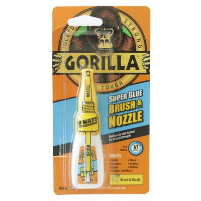 Gorilla Super Glue Brush & Nozzle 12g