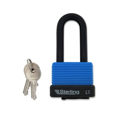 Sterling Weatherproof Padlock Aluminium with Long Shackle 48mm
