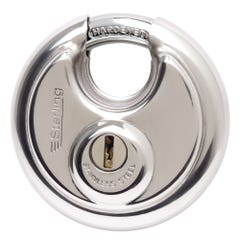 Sterling Closed Shackle Disc Padlock Stainless Steel 70mm