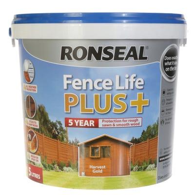 Ronseal Fence Life Plus Harvest Gold 5L