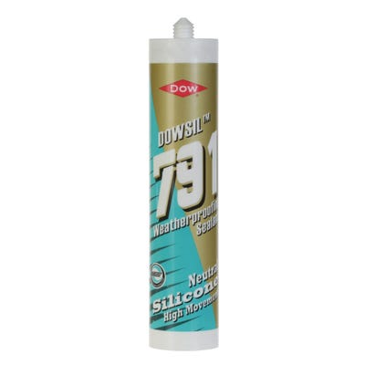 Dow 791 Weatherproofing Silicone Sealant White 310ml