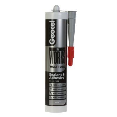 Geocel The Works Multi Purpose Sealant & Adhesive Grey 290ml