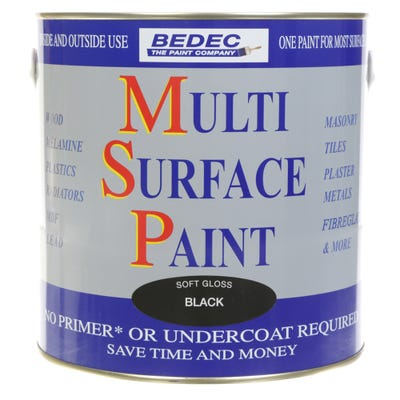 Bedec Multi Surface Paint Soft Gloss Black 2.5L