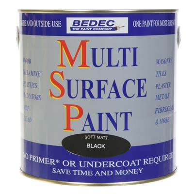Bedec Multi Surface Paint Soft Matt Black 2.5L