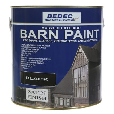 Bedec Barn Paint Satin Black 2.5L