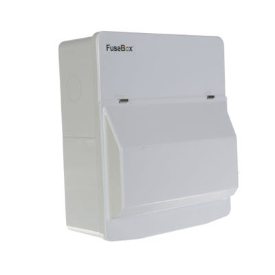 FuseBox 6 Usable Way Unpopulated Consumer Unit - 100A Mains Switch Only