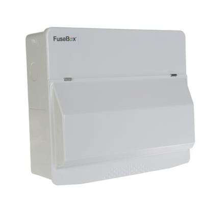 FuseBox 10 Usable Way Unpopulated Consumer Unit - 100A Mains Switch Only