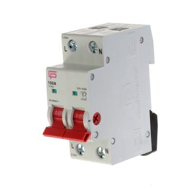 FuseBox 100A Double Pole Consumer Unit Mains Switch