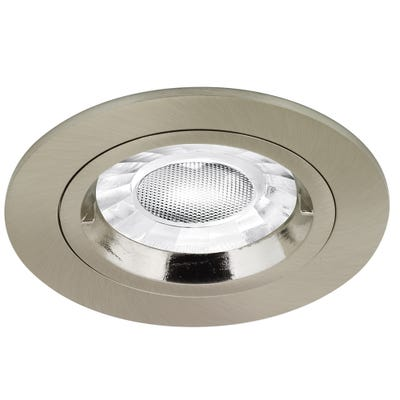 Aurora Fixed GU10 230V Non-Fire Rated Downlight - Brushed Chrome EN-DLM356SN
