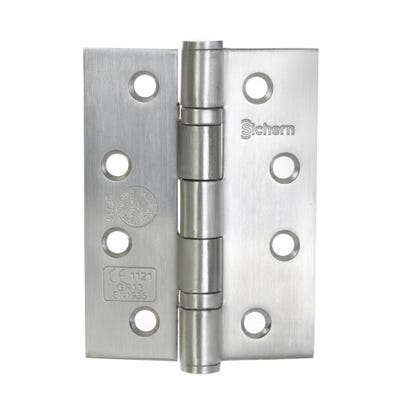 Sichern 102mm Grade 13 Fire Rated Hinges Pack of 2 in Satin Stainless Steel