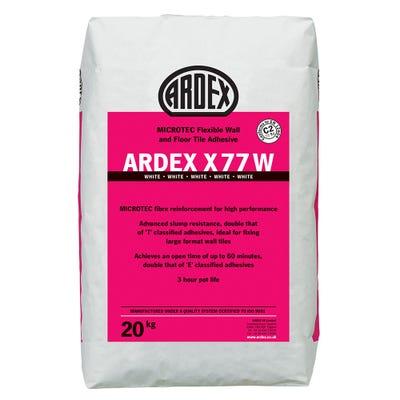 Ardex X 77W White Microtec Standard Set Tile Adhesive 20Kg