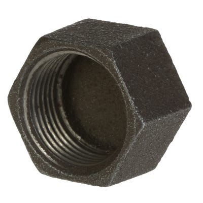 Malleable Black Iron Cap 25mm