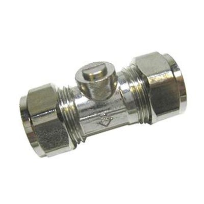 Ballofix Valve Chrome Plated 15mm