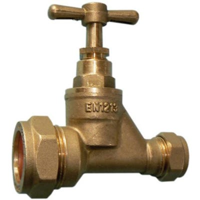 Brass Stop Cock MDPE 20mm x 15mm