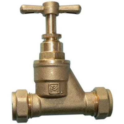 Brass Stop Cock 22mm
