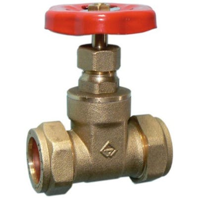 Brass Light Pattern Gate Valve 28mm