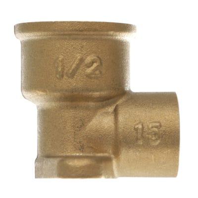 End Feed Wallplate Elbow 15mm x ½''