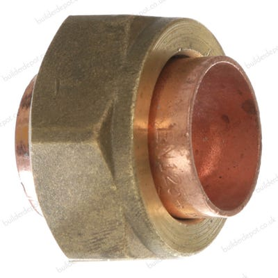 End Feed Straight Tap Connector 22mm x ¾''