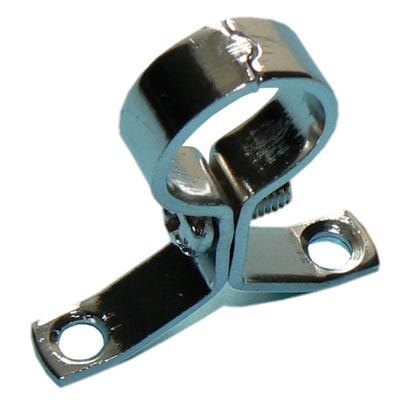 Pressed Screw On Clips Chrome Plated 15mm