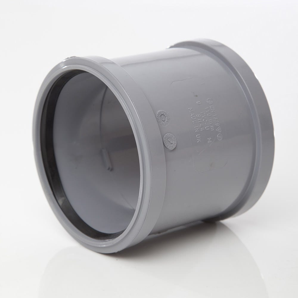 Repair Coupler 110mm Soil Pipe Coupling Slip Type Joiner Black