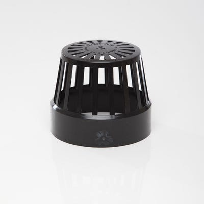 110mm Polypipe Vent Terminal Black SV42B