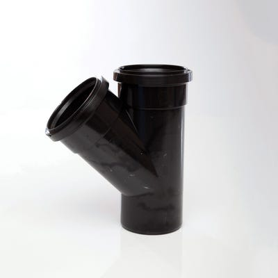110mm Polypipe 135° Equal Branch Double Socket Black ST404B