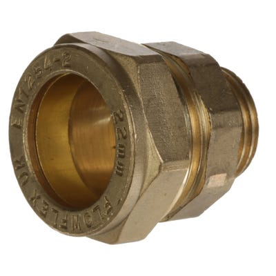 Compression Male Coupling 22mm x ½''