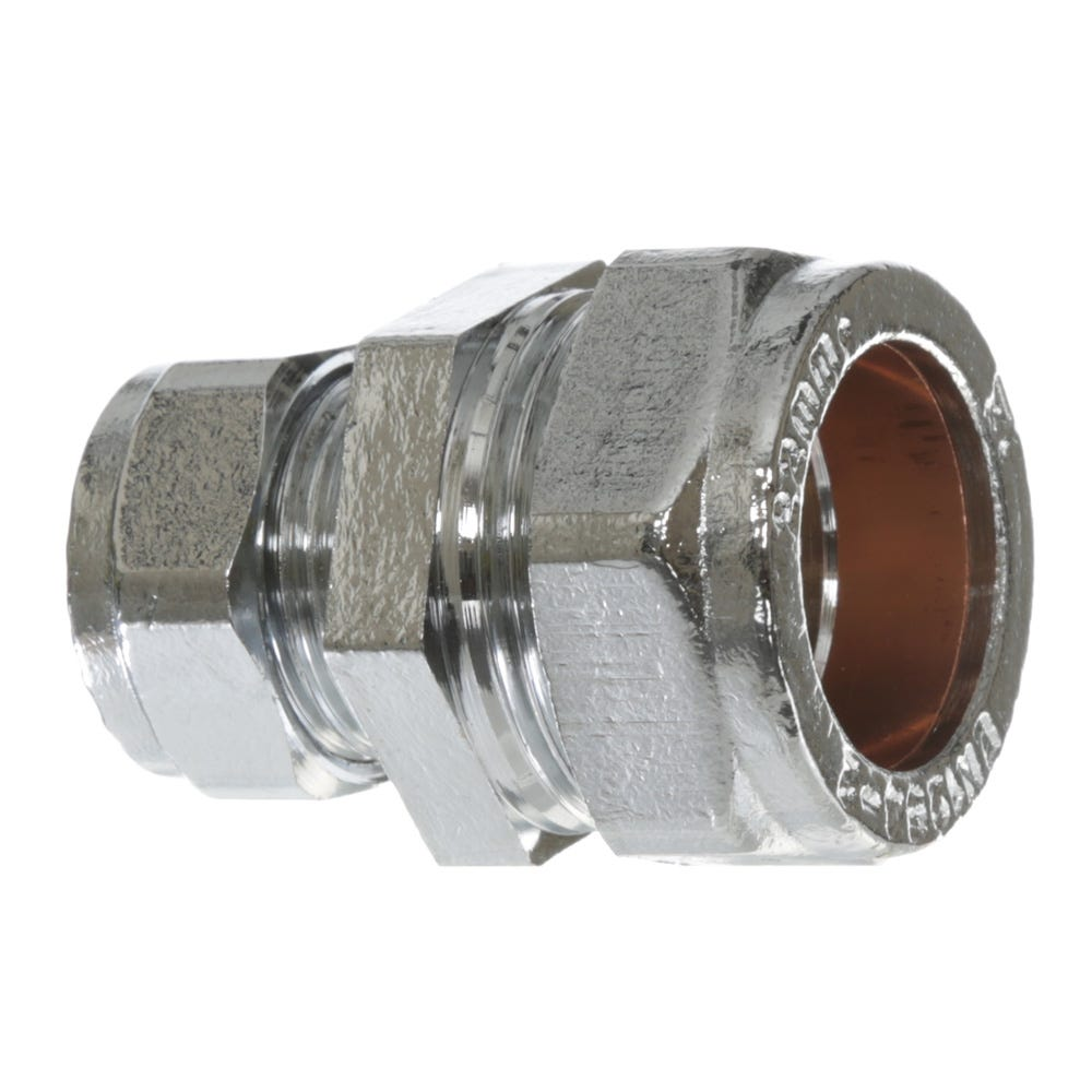 15mm Chrome Coupling Bag of 10