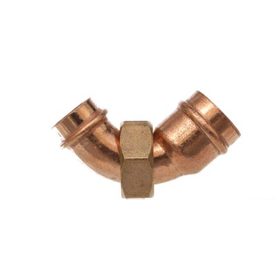 End Feed Bent Tap Connector 22mm x ¾''