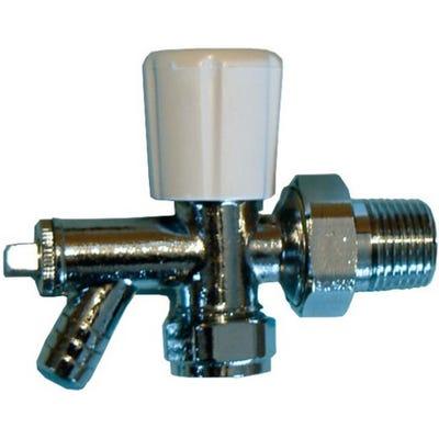 Brassware Radiator Valve With Drain off 15mm x ½''