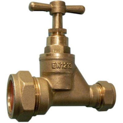 Brass Stop Cock MDPE 25mm x 15mm
