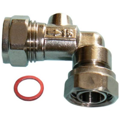 Angled Service Valve Chrome 15mm x 13mm