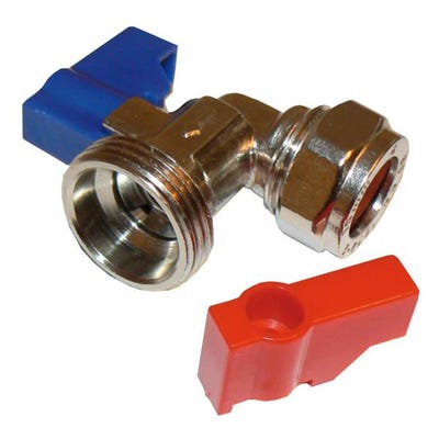 Angled Washing Machine Valves 15mm x ¾''